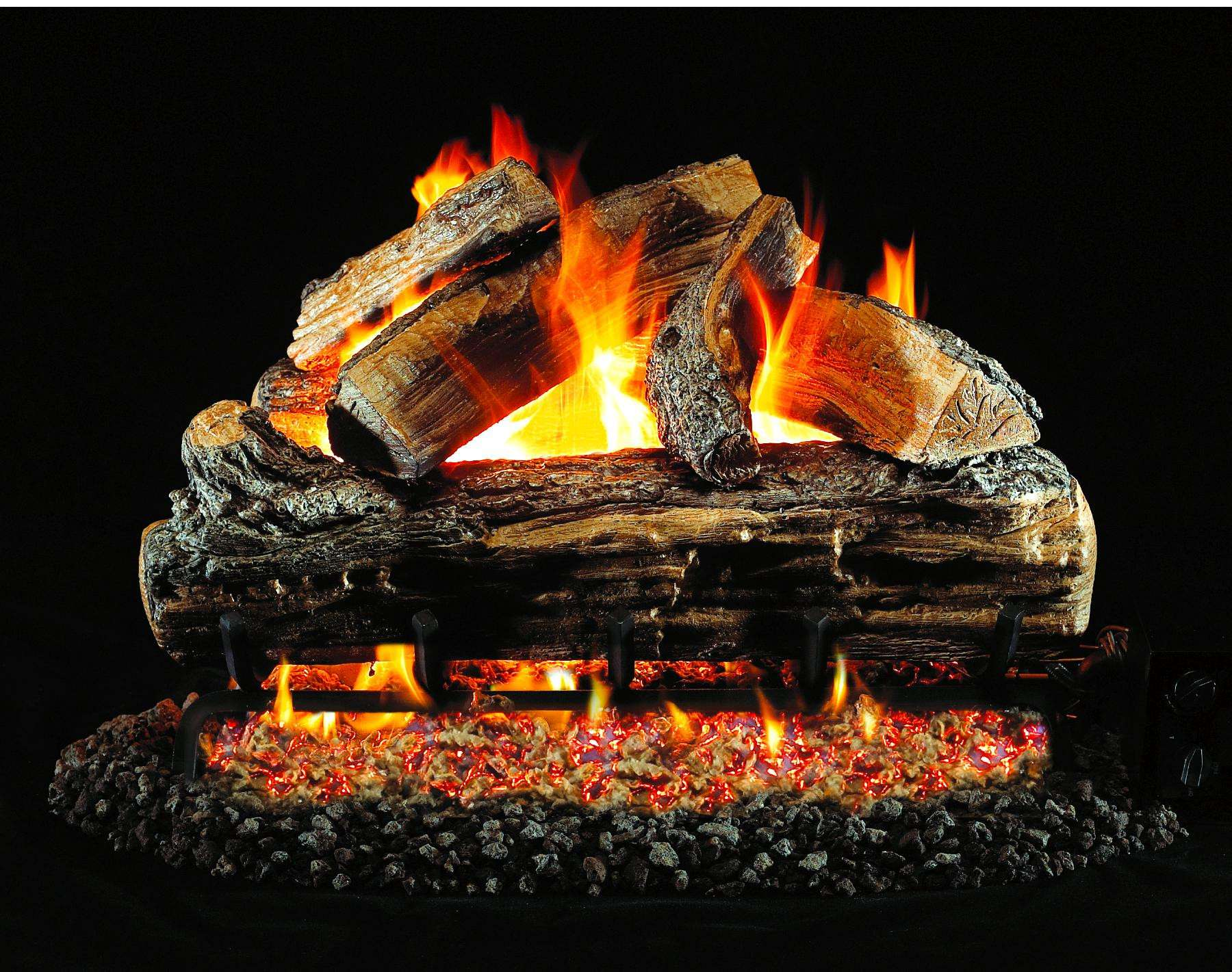 "R.H. Peterson S6-18 Standard 18"" Split Oak Low Stack. Logs Only (does not include burner). For use in wood burning fireplaces with a compatible vented gas log burner only."