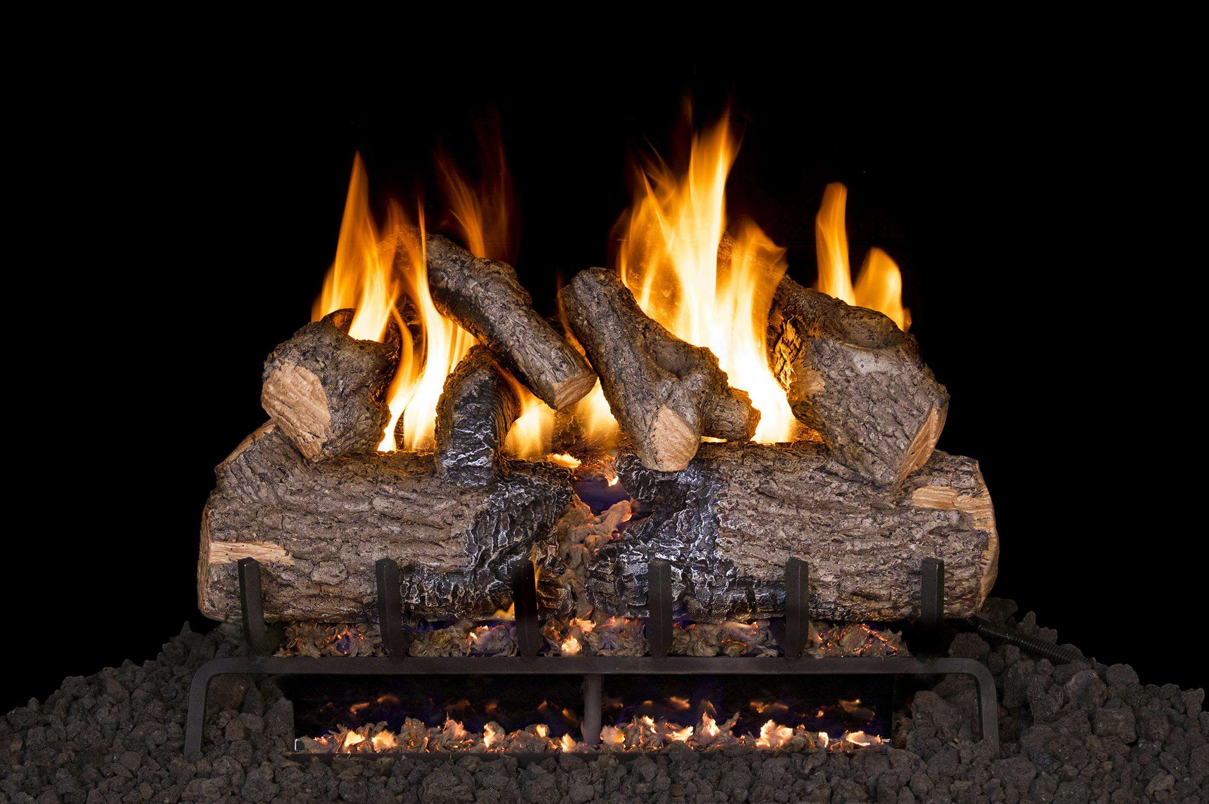 """R.H. Peterson CHD-2-24 SeeThru 24"""" Charred Oak. Logs Only (does not include burner). For use in wood burning fireplaces with a compatible vented gas log burner only."""