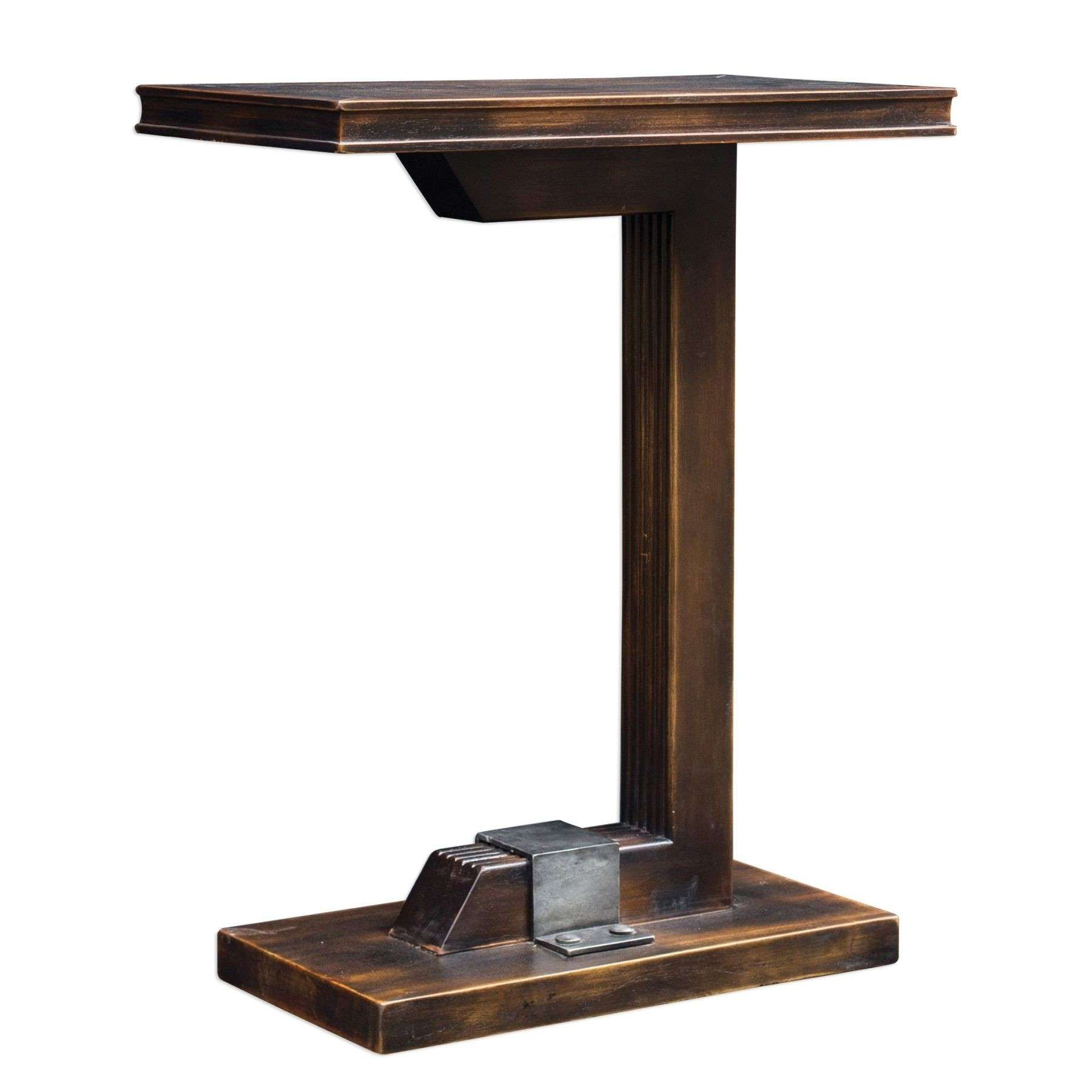 Deacon Industrial Accent Table