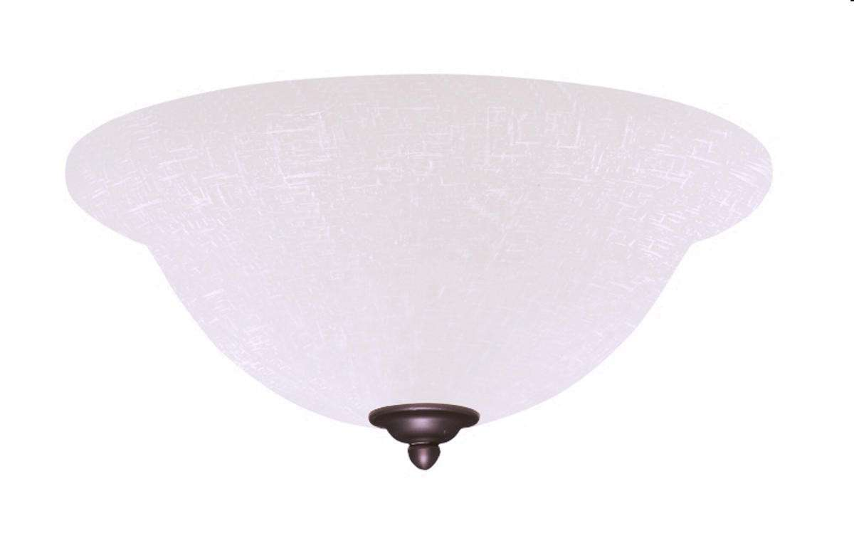 LK77AB Single Bowl Antique Brass Ceiling Fan LED Light Fixture