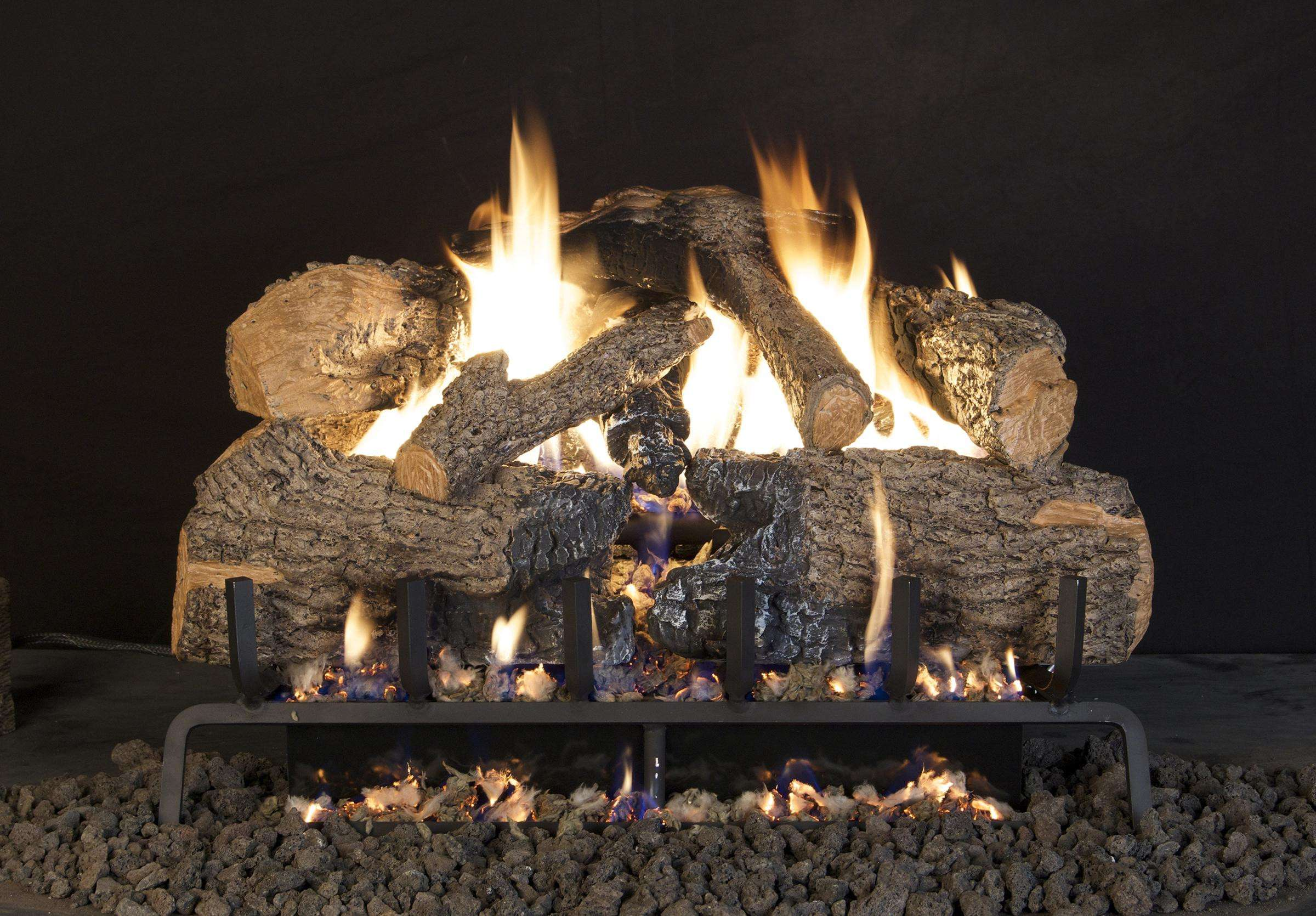 "R.H. Peterson CHNA-30 Standard 30"" Charred Angel Oak. Logs Only (does not include burner). For use in wood burning fireplaces with a compatible vented gas log burner only."