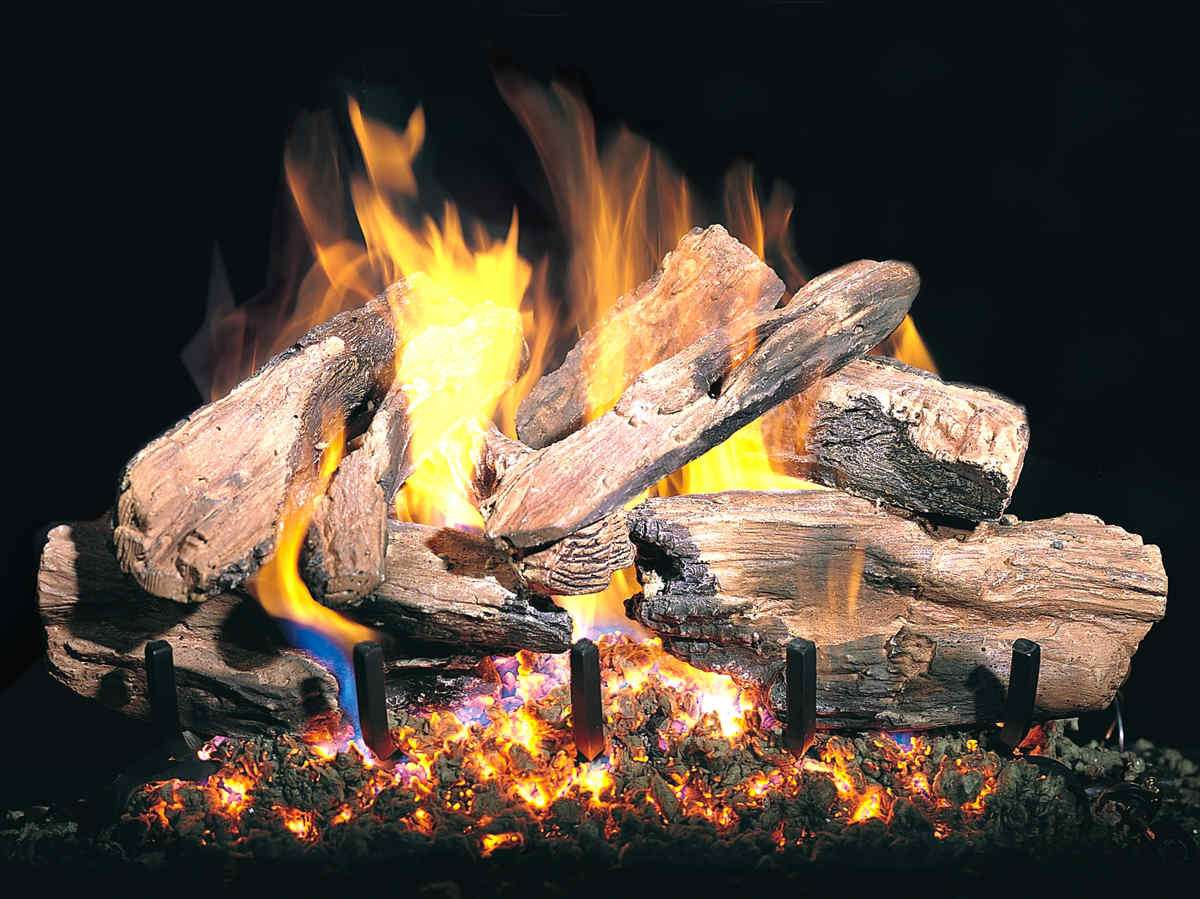 """R.H. Peterson CHCR-24 Standard 24"""" Charred Cedar. Logs Only (does not include burner). For use in wood burning fireplaces with a compatible vented gas log burner only."""