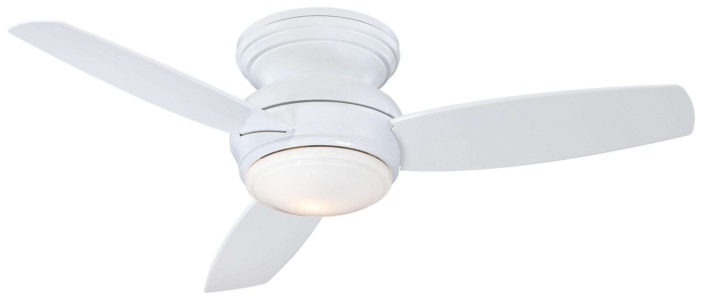 "Minka Aire 44"" Traditional Concept LED Flushmount in White"