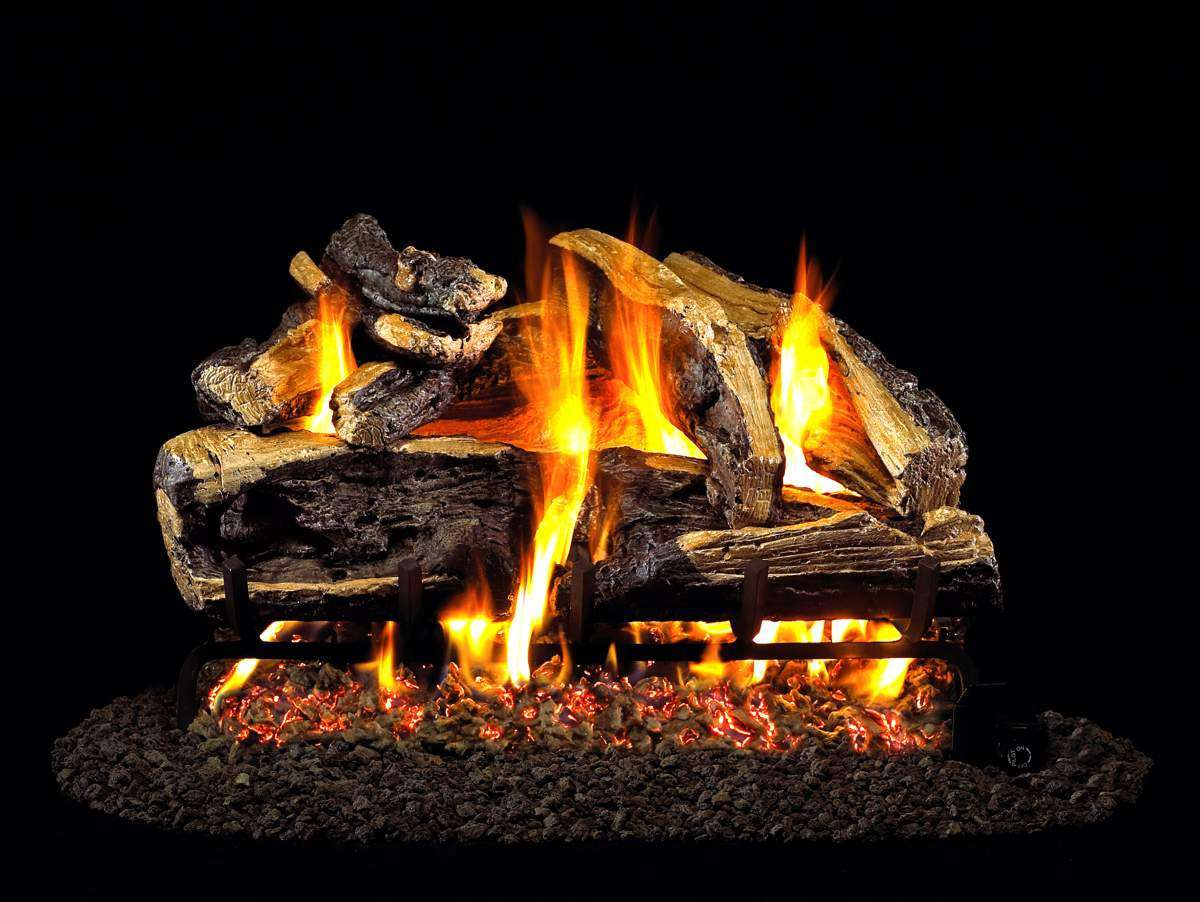 """R.H. Peterson CHRRSO-20 Standard 20"""" Charred Rugged Split Oak. Logs Only (does not include burner). For use in wood burning fireplaces with a compatible vented gas log burner only."""