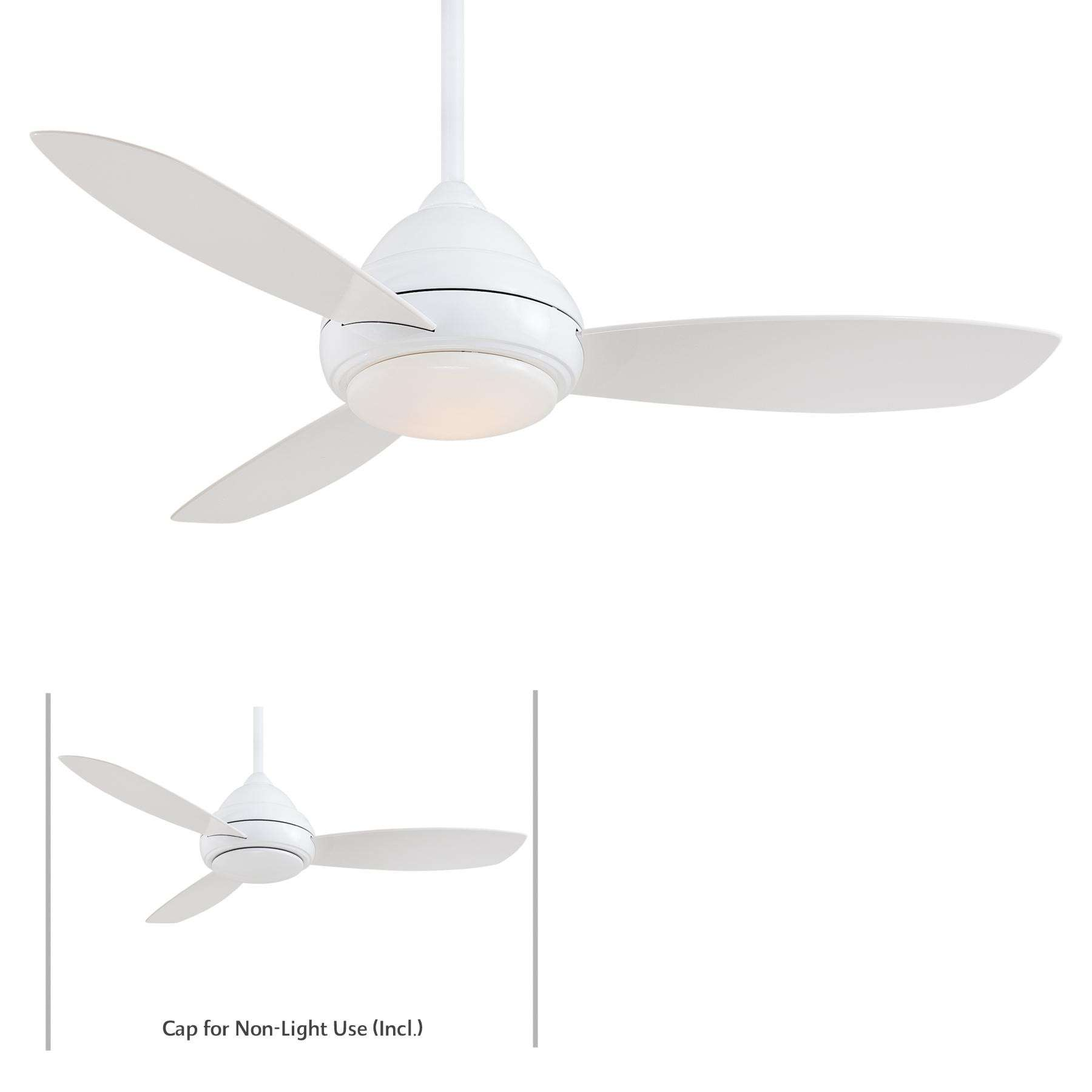 "Minka Aire 44"" Concept I LED Indoor Only in White"