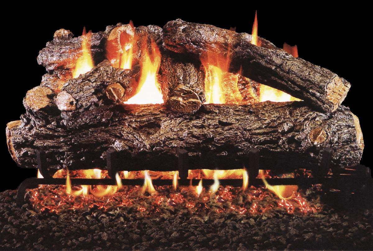"""R.H. Peterson HRD-16 Standard 16"""" Rustic Oak Designer Plus. Logs Only (does not include burner). For use in wood burning fireplaces with a compatible vented gas log burner only."""