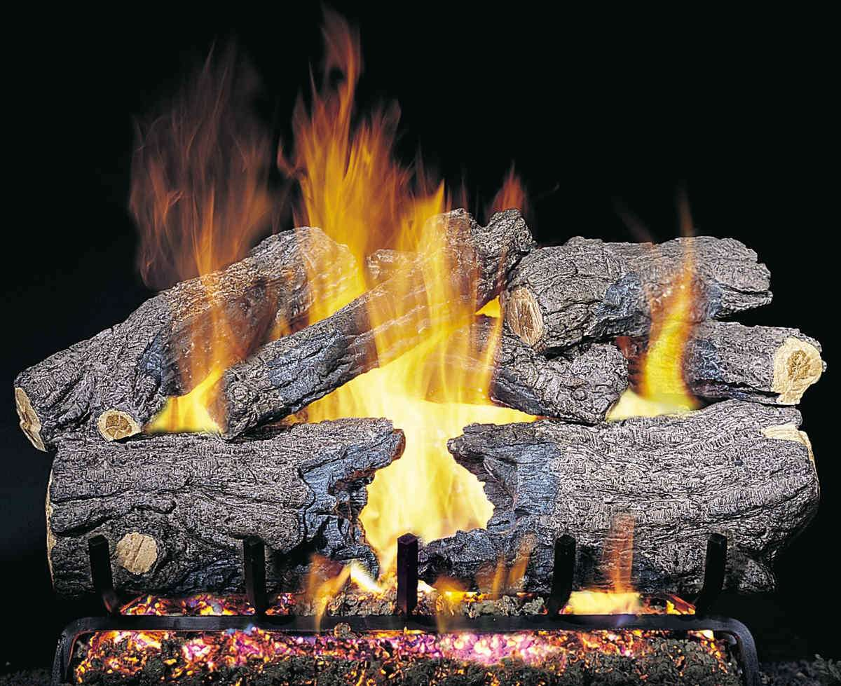 "R.H. Peterson CHH-30 Standard 30"" Burnt Heritage Oak. Logs Only (does not include burner). For use in wood burning fireplaces with a compatible vented gas log burner only."