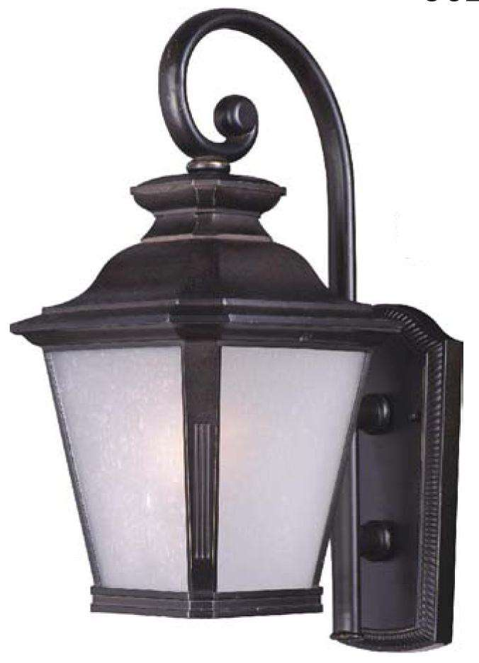 Knoxville 1-Light Outdoor Wall Lantern In Bronze Finish