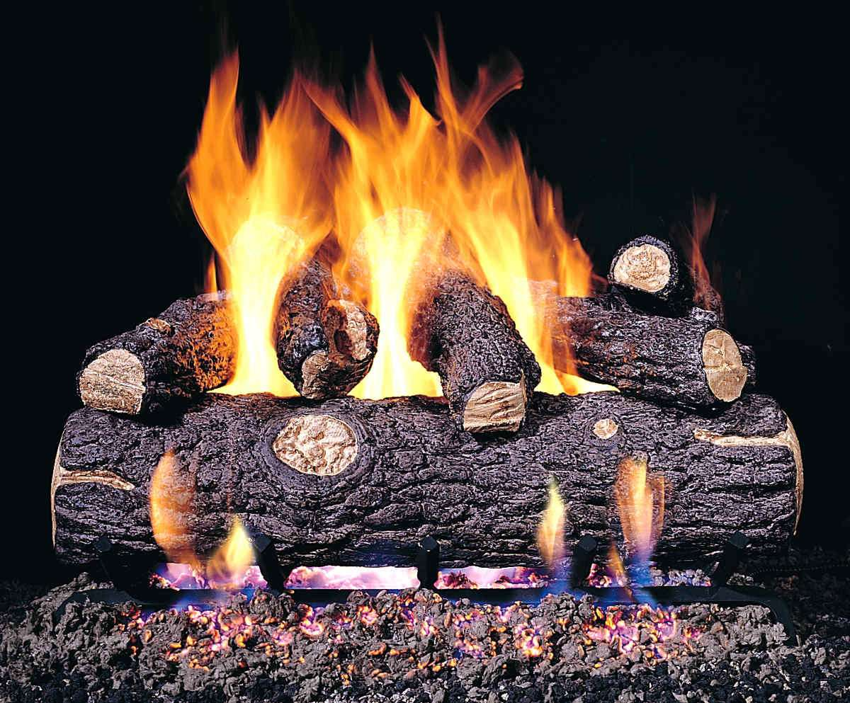 "R.H. Peterson RDP-2-18 SeeThru 18"" Golden Oak Designer Plus. Logs Only (does not include burner). For use in wood burning fireplaces with a compatible vented gas log burner only."