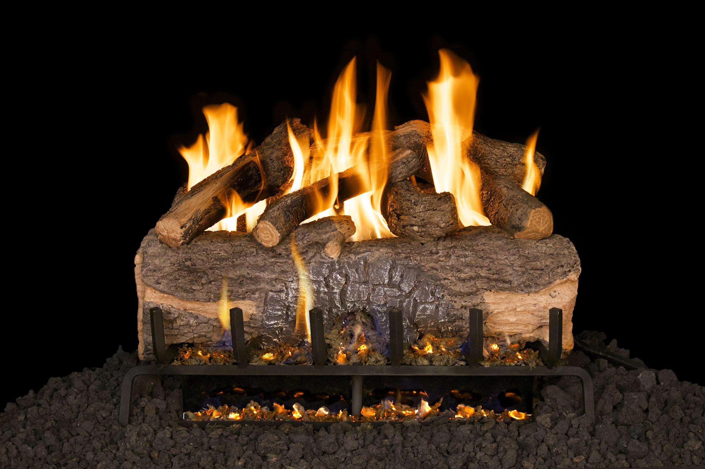 "R.H. Peterson MCO-33 Standard 33"" Mountain Crest Oak. Logs Only (does not include burner). For use in wood burning fireplaces with a compatible vented gas log burner only."