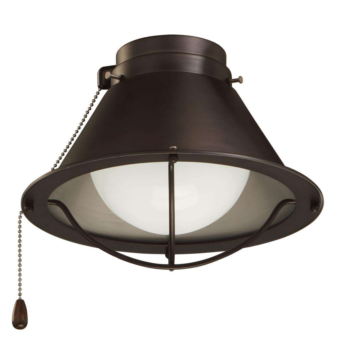 LK46ORB Single Globe Oil Rubbed Bronze Ceiling Fan LED Light Fixture