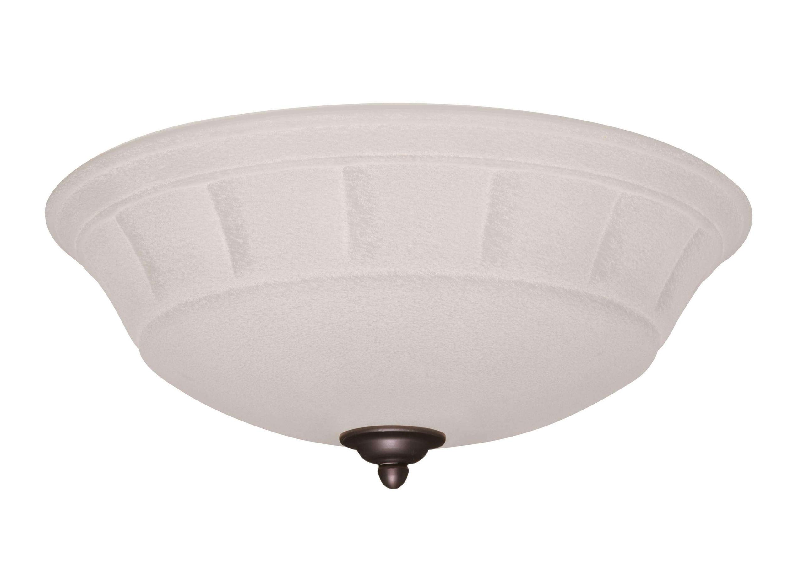 LK141WW Single Bowl Gloss White Ceiling Fan LED Light Fixture