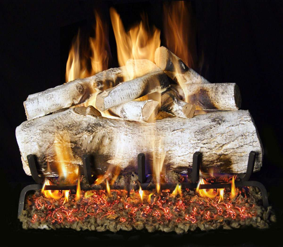 "R.H. Peterson MBW-18 Standard 18"" Mountain Birch. Logs Only (does not include burner). For use in wood burning fireplaces with a compatible vented gas log burner only."