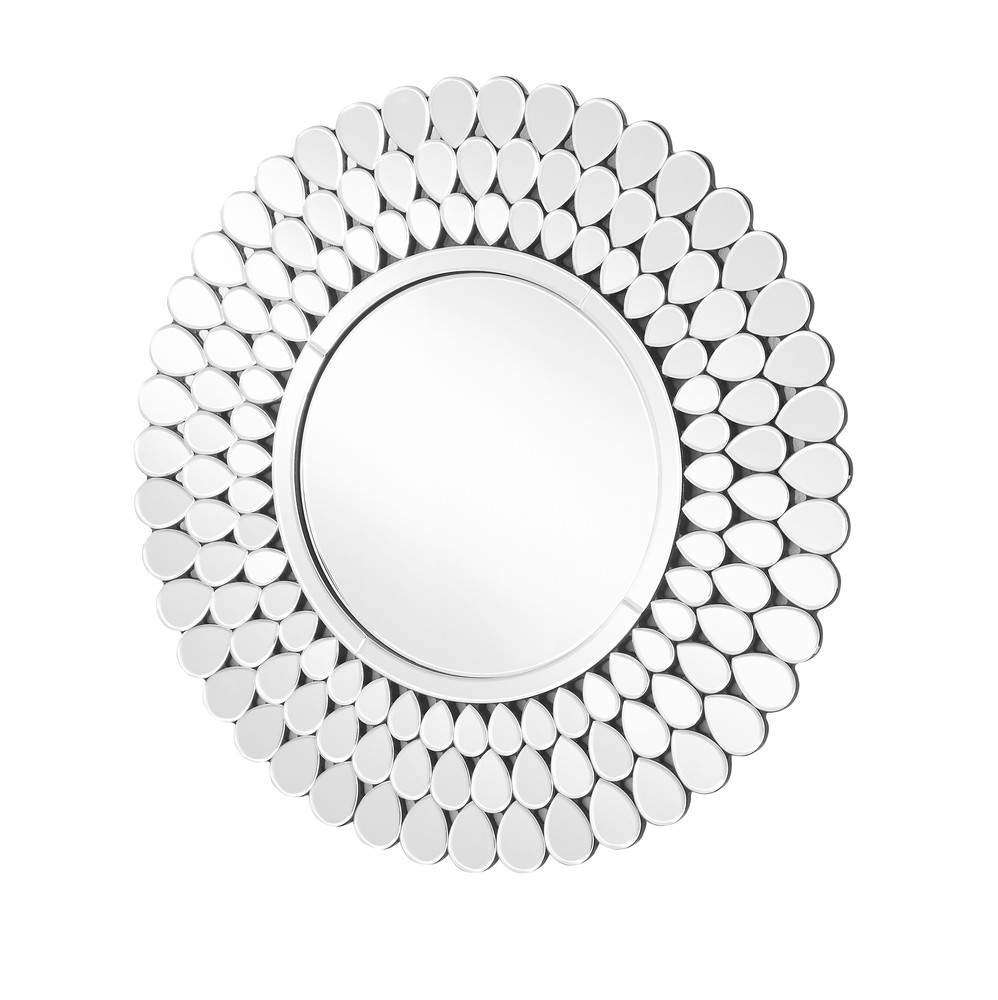 Sparkle 31.5 in. Contemporary Round Mirror in Clear