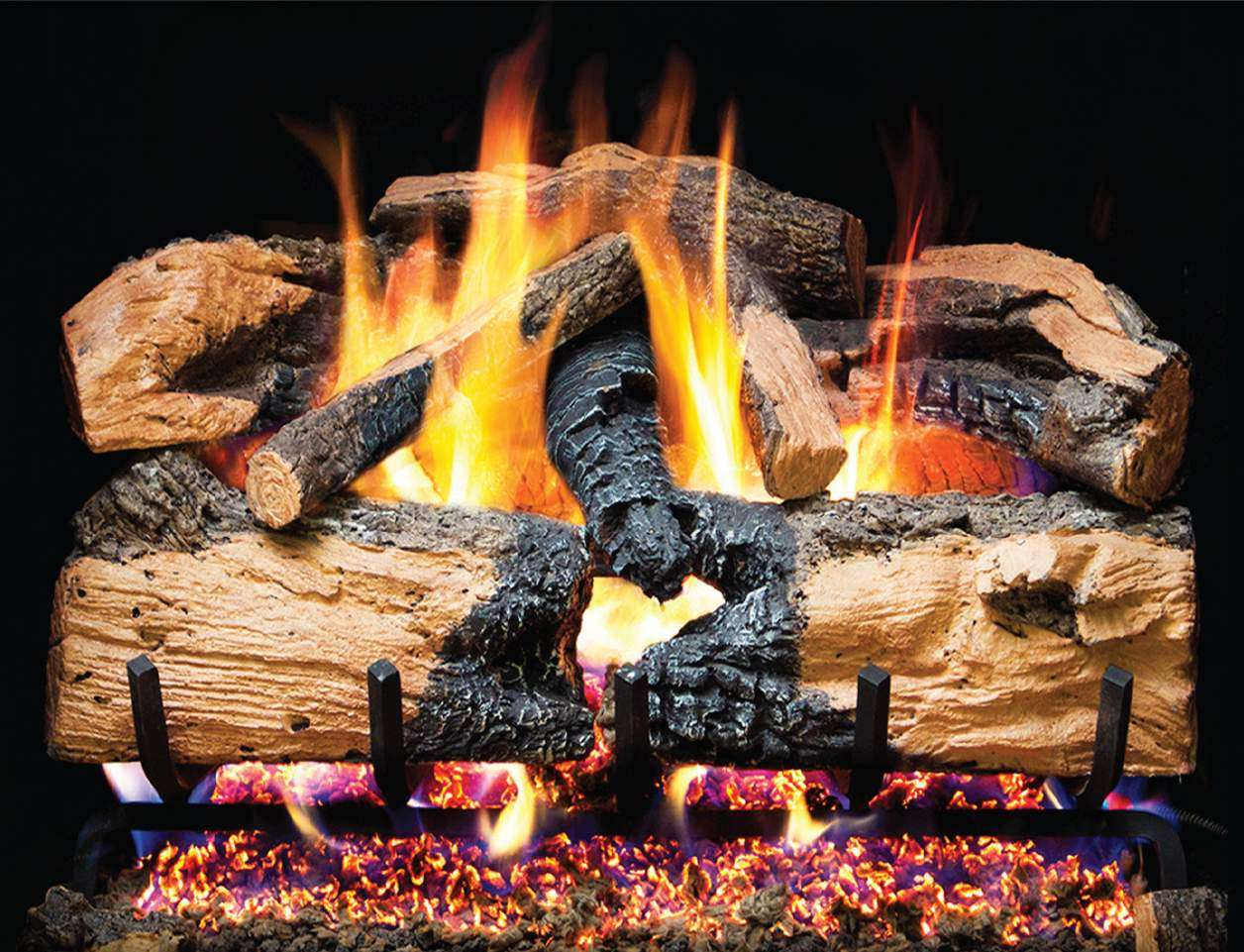 "R.H. Peterson ENS-24 Standard 24"" Charred Evergreen Split Oak. Logs Only (does not include burner). For use in wood burning fireplaces with a compatible vented gas log burner only."