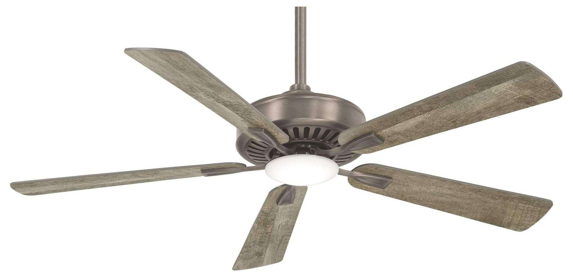 Minka Aire Contractor Plus LED Ceiling Fan Model F556L-BNK in Burnished Nickel