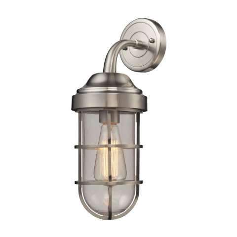 Seaport 1 Light Sconce In Satin Nickel