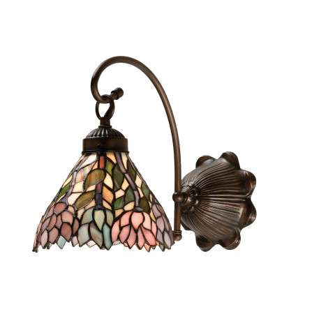Meyda Tiffany 18721 Wisteria Wall Sconce in Mahogany Bronze finish