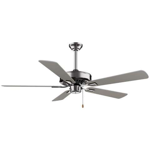 "Minka Aire 52"" Contractor Plus in Brushed Nickel"