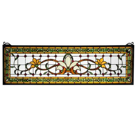 Fairytale Transom Stained Glass Window