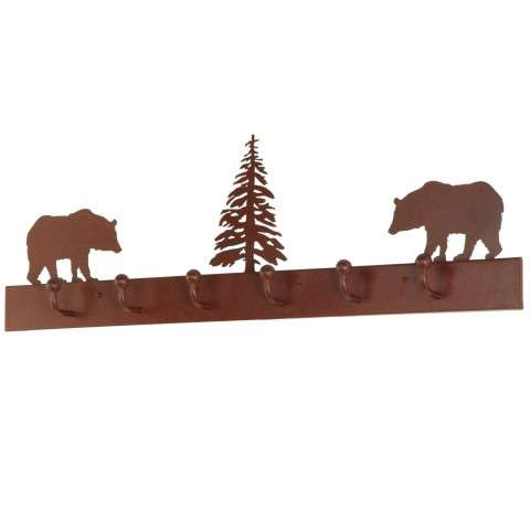 "36"" L Bear On The Loose 6 Hooks Coat Rack. Custom Crafted In Yorkville - New York Please Allow 30 Days"