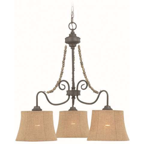 Craftmade Exteriors Quincy - Seville Iron 3 Light Down Chandelier in Seville Iron