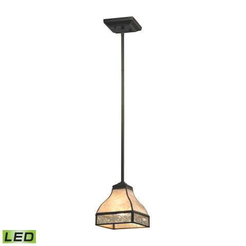 Santa Fe 1 Light LED Pendant In Tiffany Bronze