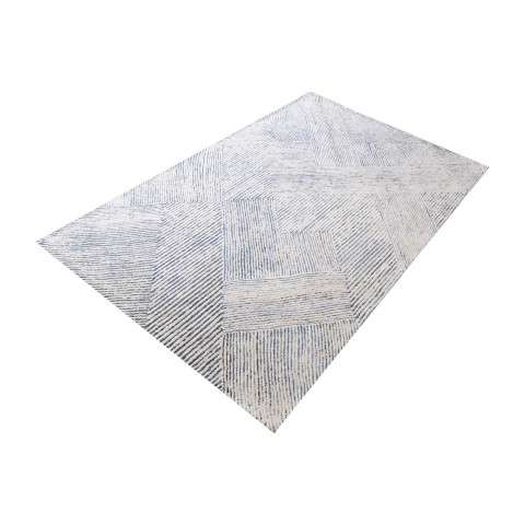 Vaugham Handtufted Wool And Denim Fabric Rug - 5ft x 8ft