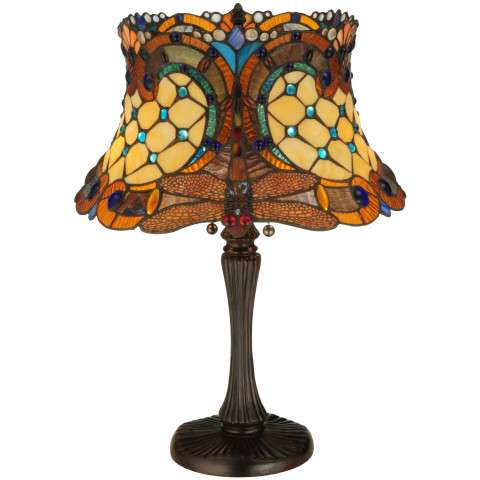 Meyda Tiffany 130762 Tiffany Hanginghead Dragonfly Table Lamp