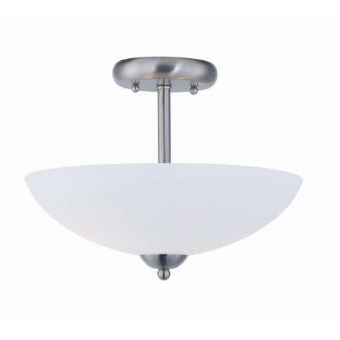 Taylor 2-Light Semi Flush Mount in Satin Nickel