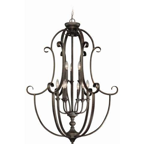 Craftmade Exteriors Barrett Place - Mocha Bronze 9 Light Foyer in Mocha Bronze