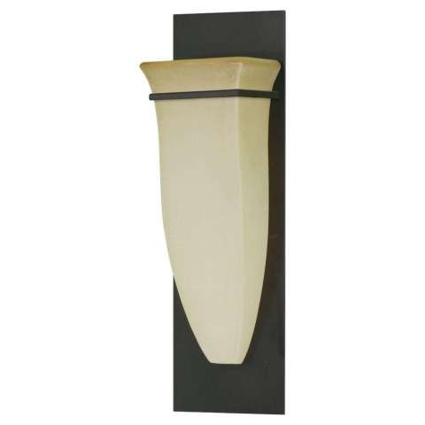 Murray Feiss WB1329ORB American Foursquare Wall Bracket in Oil Rubbed Bronze finish with Excavation glass shade