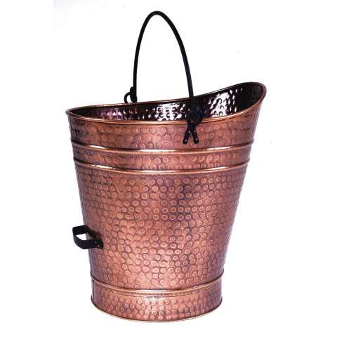 Antique Copper Coal Hod / Pellet Bucket