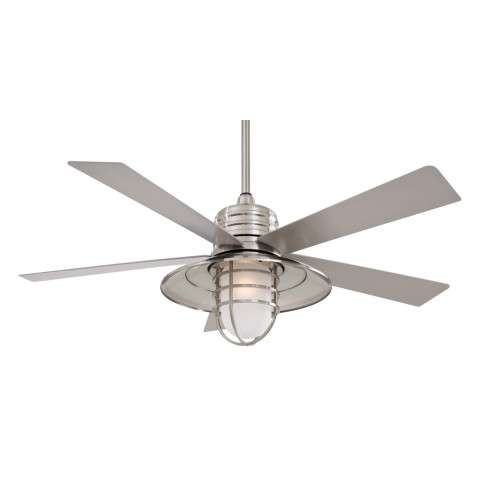 Minka Aire Rainman in Brushed Nickel Wet