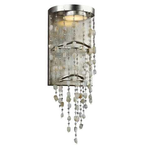 Stonesend LED Sconce in Silver Leaf Antique
