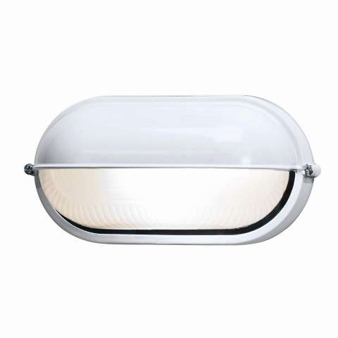 Access Lighting 20291-WH/FST Nauticus Wet Location Bulkhead in White finish with Frosted glass
