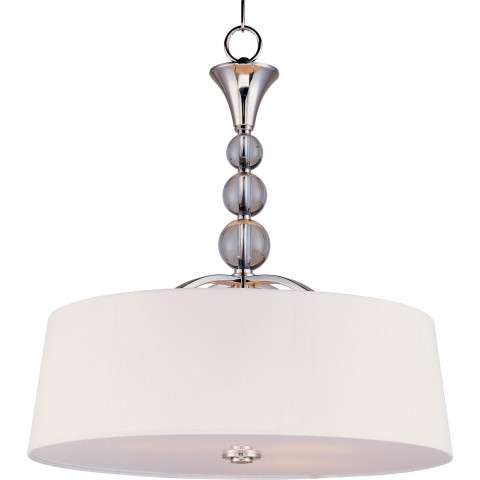 Maxim 12753WTPN Rondo 4-Light Entry Foyer Pendant in Polished Nickel.
