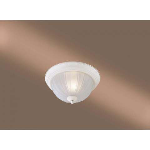 Minka Lavery Lighting 828-86-PL 1 Light Flush Mount in Textured White finish; ENERGYSTAR Compliant Fixture