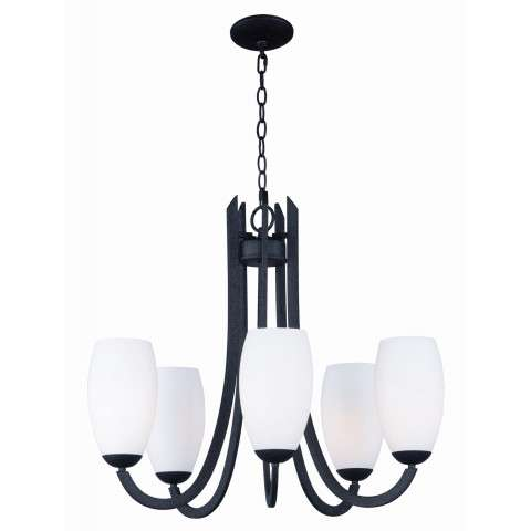 Taylor 5-Light Chandelier in Textured Black
