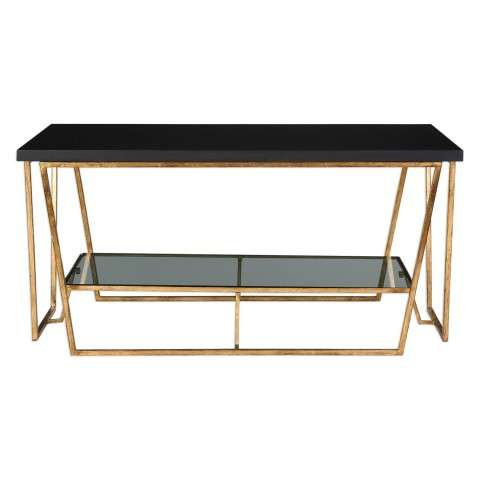 Agnes Black Granite Coffee Table