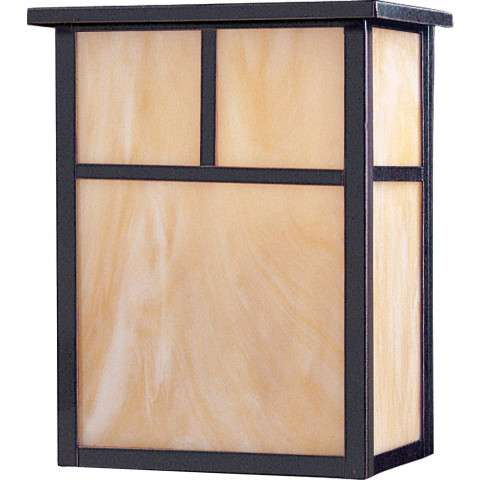 Coldwater LED 2-Light Outdoor Wall Lantern in Burnished w/Honey Glass
