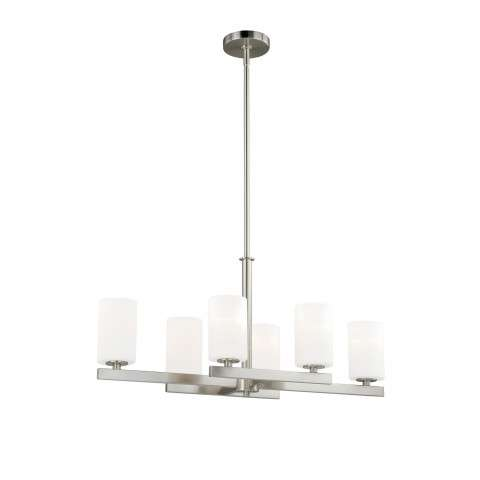 Glendale 6L Chandelier Satin Nickel