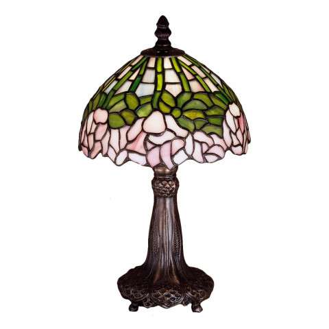 Meyda Tiffany 30312 Cabbage Rose Mini Lamp in Mahogany Bronze finish