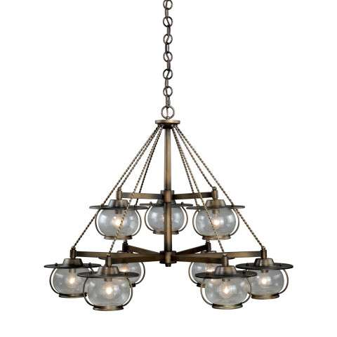 Jamestown 9L Chandelier Parisian Bronze