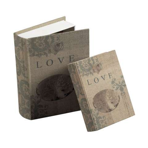 Sterling Furnishings 89-8004/S2 Set Of 2 Love Keepsake Books