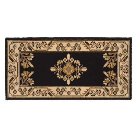 Jardin Hearth Rug - Rectangular - Noir