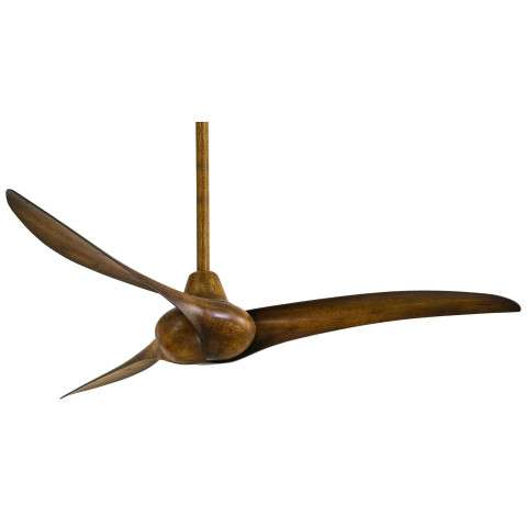 Minka Aire Wave Ceiling Fan Model MF-F843-DK in Distressed Koa