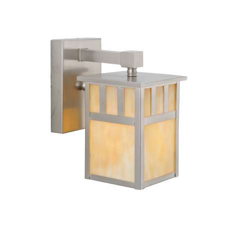 Meyda Tiffany 106438 Hyde Park Double Bar Mission Solid Mount Wall Sconce in Brushed Nickel finish
