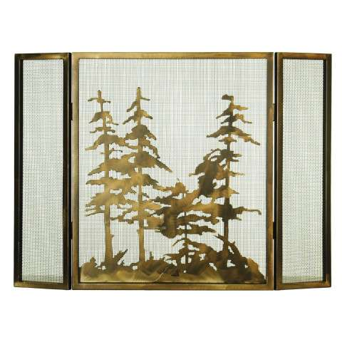 "Tall Pines Folding Fireplace Screen - 36"" Wide x 26"" Tall"