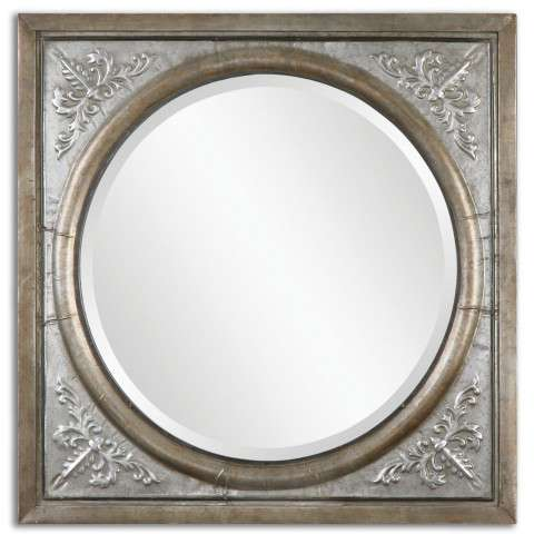 Uttermost Ireneus Burnished Silver Mirror